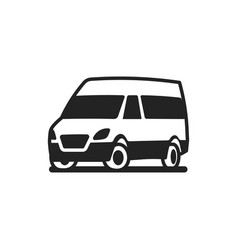 vehicles car bus truck icon vector image
