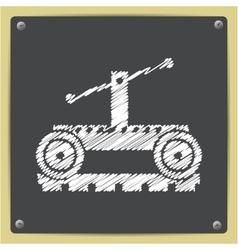 Vetor color flat trolley icon epschalk drawn in vector