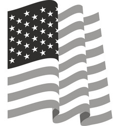 Waving US Flag vector image vector image