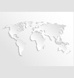 White paper earth 3d map template for vector
