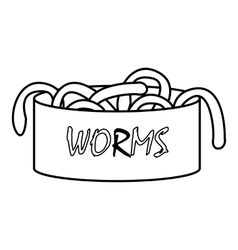 Worms icon outline style vector image