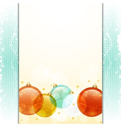Christmas bauble panel background vector