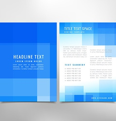 Business abstract flyer vector