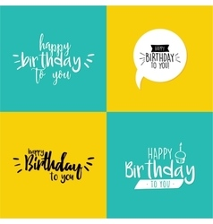Happy birthday label vector