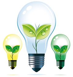 Eco lamps vector