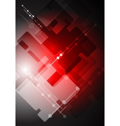 Abstract red tech backdrop vector