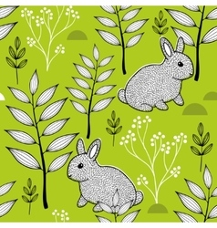 Summer pattern with cute little animals in the vector image