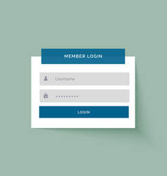Flat sticker style member login user interface vector
