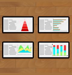 statistical file on tablets vector image