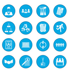 Office teamwork icon blue vector