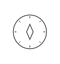 Compass outline icon vector