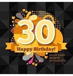 30th anniversary card vector