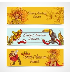 South america banners set vector