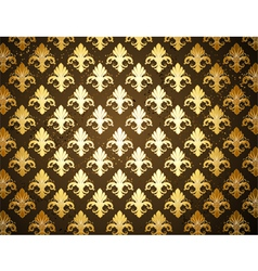 Background with gold fleur de lis vector