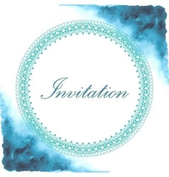 Invitation card with watercolor background vector