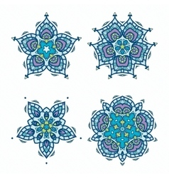 Snowflakes ornament pack vector