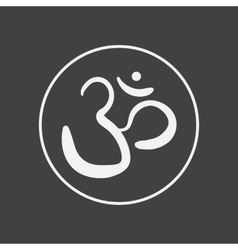 Om sign and symbol vector