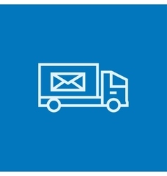 Mail van line icon vector