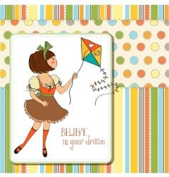 Believe in your dream vector image