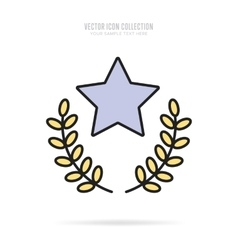 Awards icons isolated with shadow vector