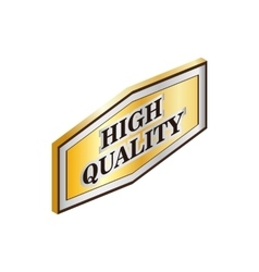 Rectangular label high quality icon vector
