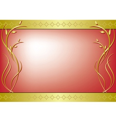red frame with golden decor vector image