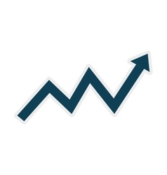 Arrow data infographic icon graphic vector