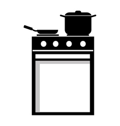 Black and white cooking stuff graphic vector