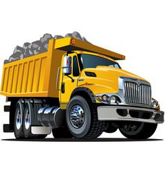 Cartoon Dump Truck vector image vector image