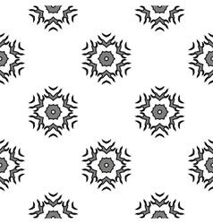 Creative ornamental mosaic seamless grey pattern vector
