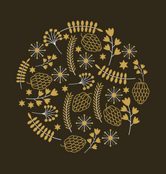 Decorative ornament design vector