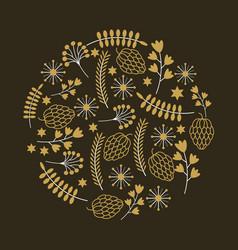 decorative ornament design vector image