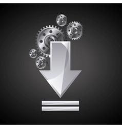 Download arrow icon internet design vector