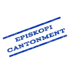 Episkopi Cantonment Watermark Stamp vector image vector image