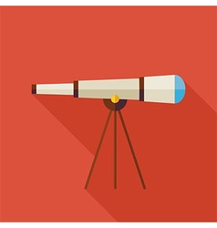 Flat Space Instrument Telescope with long Shadow vector image