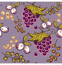 grapes and plums vector image