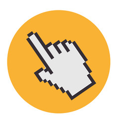 Hand mouse pointer icon vector