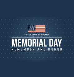 Happy memorial day theme background vector