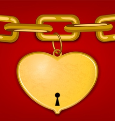 Heart key vector