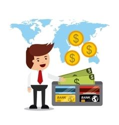 International stock exchange icons vector