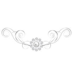 jewelry floral frame vector image vector image