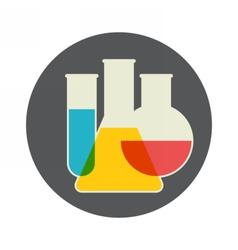 Laboratory glassware vector image vector image