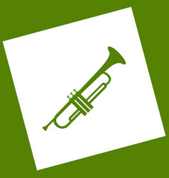 musical instrument trumpet sign white vector image vector image