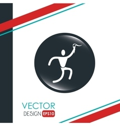olimpic torch design vector image vector image