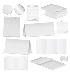 paper objects vector image vector image