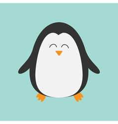 Penguin smiling face Cute cartoon character Arctic vector image