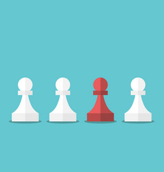 red unique chess pawn vector image vector image