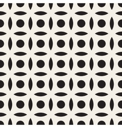 Seamless black and white simple circle arc vector