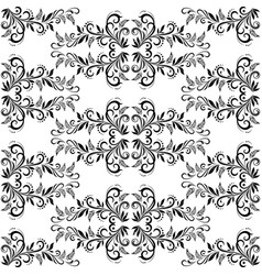 Seamless tile floral pattern vector