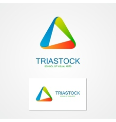 Set of unusual triangle logo vector image